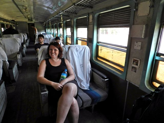 """""""Relaxing"""" in upper class enroute to the Gokteik Viaduct... sort of, you can never really relax on a train this bumpy"""