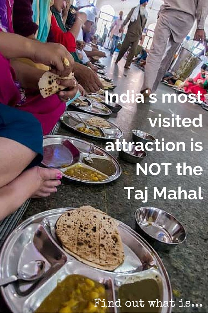 055 India's most visited attraction is NOT the Taj Mahal (podcast_ In this episode... We are in Amritsar, North West India, close to the Pakistan border. We visit one of the largest free kitchens in the world! That serves over 100,000 people on a typical day. And we see Indian soldiers contort their legs to unusual proportions at the Pakistan-India lowering of the flags border ceremony. Also, we eat some of the tastiest bread that exists on this planet!