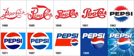 Pepsi original and new logo.
