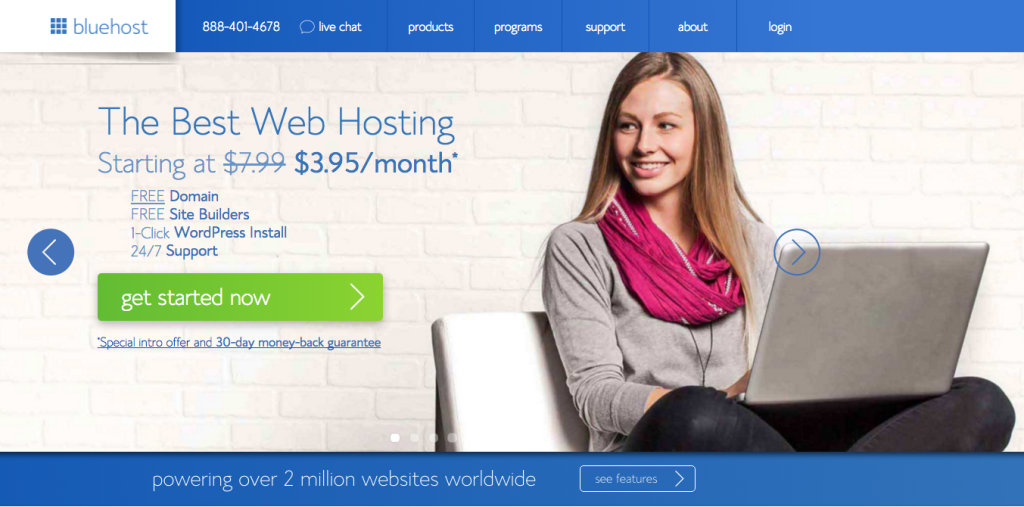 Bluehost pricing - How to start a travel blog and make money