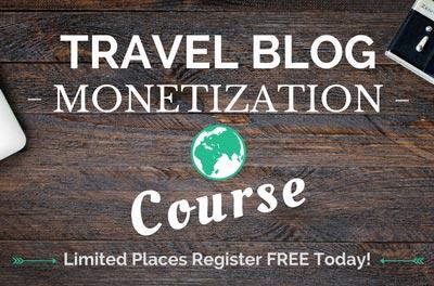 Travel blog monetization course