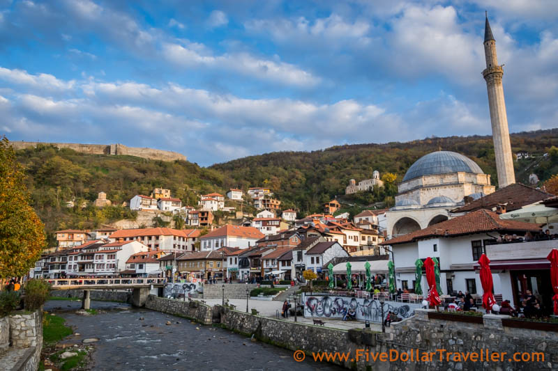 Prizren, Kosovo: Fort, Mosque and river.