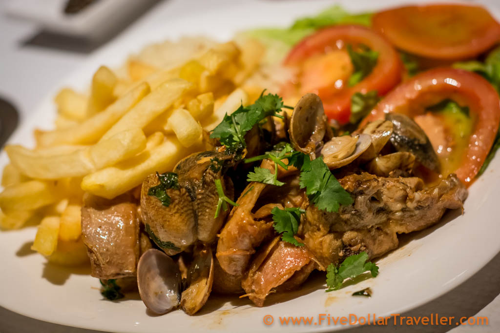 Rabbit and Clams Portuguese style