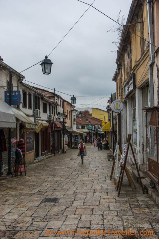 Skopje Podcast - Old Town - like a 1970s version of 18th century area