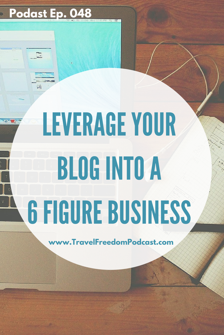 Leverage your blog into a 6-figure tour business - click through to hear the full podcast
