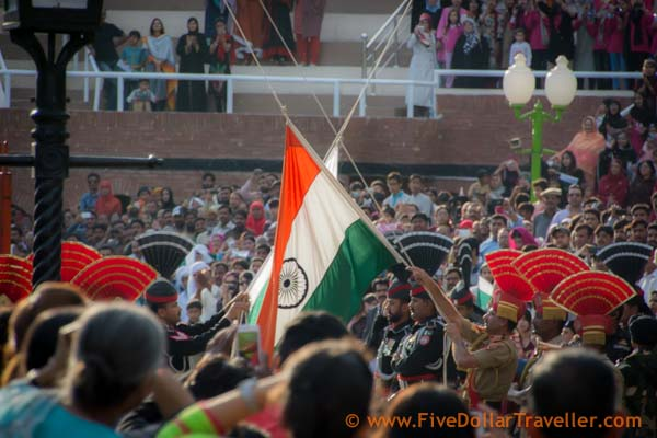 Amritsar Podcast - Wagah border flags